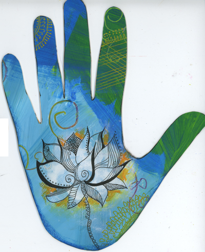Hand painted lotus art by vermont painter cathy stevens pratt another hand for you since i didfour one more for the next time this is a lotus flower in all its glory on a lovely thursday to brighten things and mightylinksfo